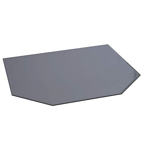 FIREFIX 1556/2DG Stahlbodenplatte (Hitzeschutz Ofen), Sechseck-Bodenplatte (1.000 x 1.100 x 900 mm), 2 mm Starkes Stahlblech, Lackierung Senotherm UHT-Hydro-dunkelgrau
