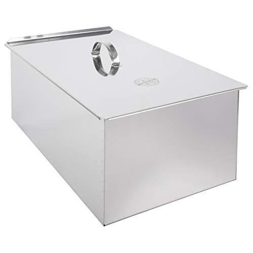 MUURIKKA Räucherofen Box, Edelstahl, 2 Ebenen, für Fisch, Fleisch & Räucherspeisen über Grill & Lagerfeuer