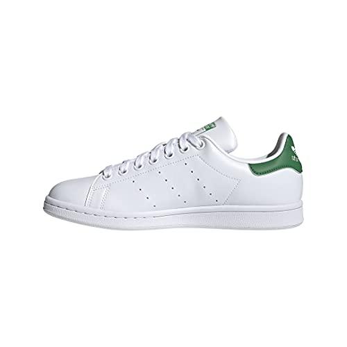 adidas Originals womens Stan Smith Sneaker, White/Green/White, 7.5 US