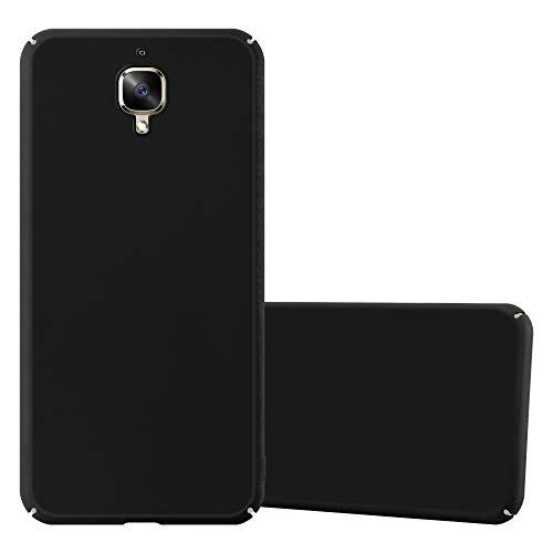 Cadorabo Hülle für OnePlus 3 / 3T - Hülle in Metall SCHWARZ – Hardcase Handyhülle im Matt Metal Design - Schutzhülle Bumper Back Case Cover