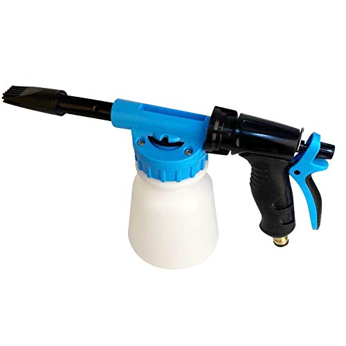 Car Foam Gun Foam Cannon Blaster 6 Adjustment Ratio Dial Foam Wash Gun Connects to Garden Hose Foam Sprayer for Car Home Cleaning with 0.25 Gallon Bottle