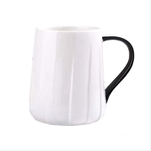 Mokken GJDBBLY Keramische Koffiekopje Draad Melk Cup En Cup Home Restaurant Ontbijt Havermout Sap 8.3 * 12cm wit
