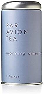 Par Avion Tea Morning Americano - Stimulating Tea Combines Select Indian, African, and Chinese Black Teas - Small Batch Loose Leaf Tea in Artisan Tin - 4 oz