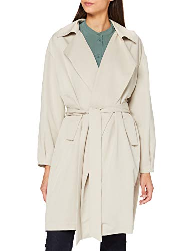 Pepe Jeans Elsa Trench Coat, Gris (Linen 892), Medium Femme