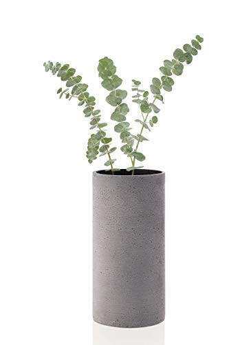 blomus Coluna Vase, Beton, Dunkelgrau, H 24 cm, Ø 12 cm
