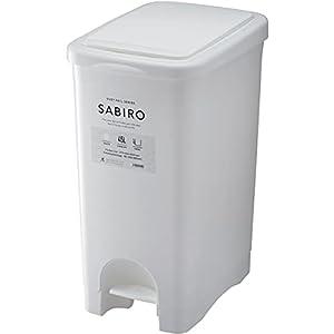 リス ゴミ箱 2way プッシュペダルペール SABIRO ポリ袋フック付き ホワイト 45L 日本製 45L
