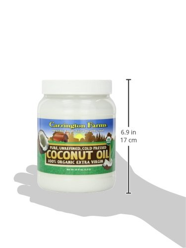 Carrington Farms Gluten Free, Unrefined, Cold Pressed, Virgin Organic Coconut Oil, 54 oz. (Ounce), Perfect Coconut Oil For Skin & Hair Care, Cooking, Baking, & Smoothies