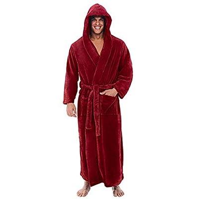 POQOQ Sleepwear Coat Winter Plush Lengthened Shawl Bathrobe Long Sleeved Robe
