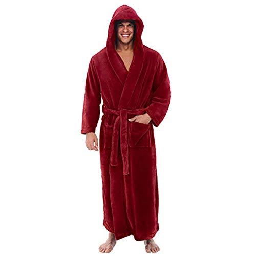 Pyjama Homme Polaire Robe Peignoir Pas Cher Personnalisé Robe Chambre Longue Hiver De Manteau Long De Coralline d'hiver Allongé par Unisexe Roiper