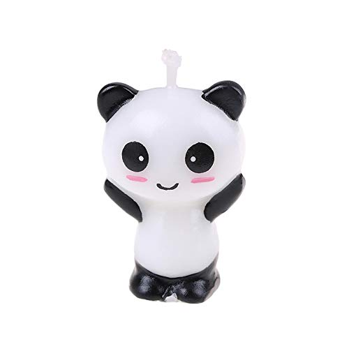 WWWL Creative candle 1pc Cute Panda Birthday Cake CandlesCartoon Animal Art Candle Cake Toppers Baby Shower Birthday Party Decoration Handmade 2