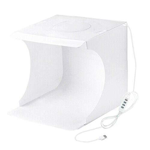 Reuvv Plegable Estudio Fotográfico, Caja de Luz para Fotografía, Min 64 LED Portátil Foto Iluminación Estudio Disparo Luz Tienda Caja Kit para Fotografía