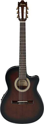 IBANEZ Klassikgitarre 6 String mit Cutaway - Dark Violin Sunburst High Gloss (GA35TCE-DVS)