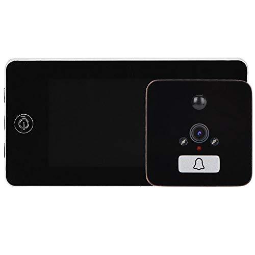 4,3 inch slimme deurbelcamera, high-definition lcd-scherm digitale kijkgaatje bewakingscamera 120 graden perspectief + 2 nachtzichtlichten + 95 mm fresnel-lens voor huisbeveiliging (zilver)