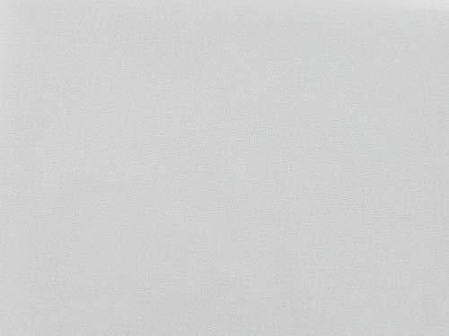 Dalston Mill - Tela de algodón 100%, algodón, Blanco puro, 1 m
