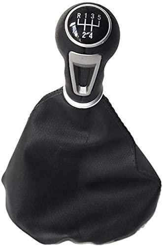 ZHAOOPPerilla de Cambio de Marchas de Cuero de 5 velocidades para Coche, Funda para Maletero, para Seat Ibiza 1996 1997 1998 1999 2000 2001 Accesorios para automóviles