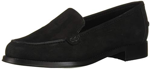 Easy Spirit Womens Racer Loafer, Black 001, 8.5 Wide