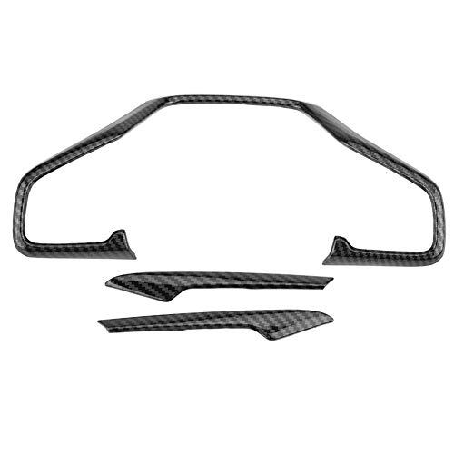 Copertura del telaio del volante, 3 pezzi di copertura del telaio del volante dell'automobile in fibra di carbonio per Civic 10th 2016-2018