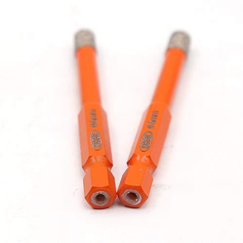 BGTEC Dry Diamond Drill Bits 2pcs 1/4