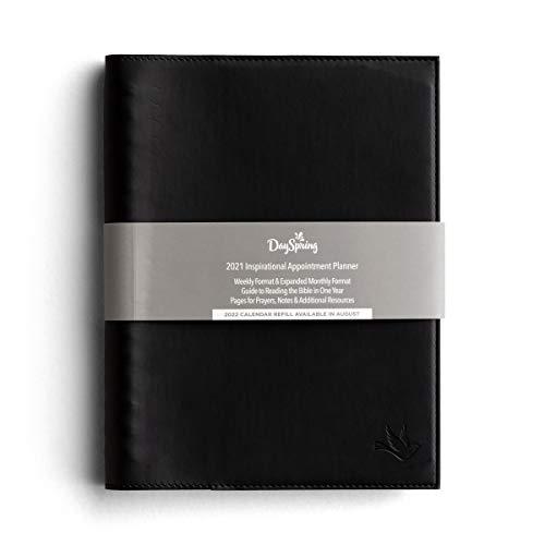 DaySpring 2021 Premium Faux Leather 12 Month Premium Appointment Agenda Planner - Black