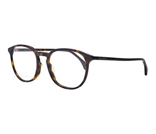 Gucci GG0551O-008-52 Brillengestell, Havana Dunkel, 52.0 Unisex Adulto