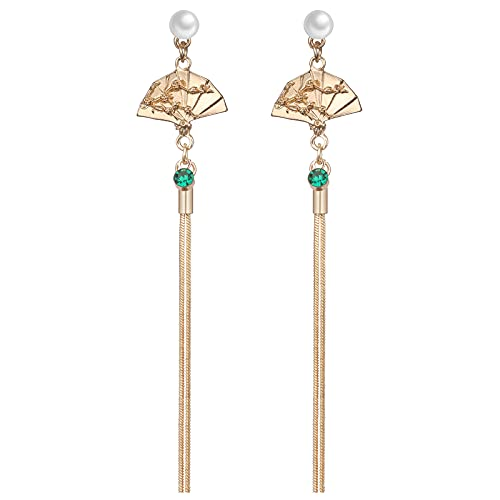 penobon Quaste baumeln Ohrringe Geometrische Ventilator Ohrringe Schmuck Modeschmuck Lange Ohrringe für Frauen und Mädchen Lange Ohrringe Ohrschmuck mit Geschenkverpackungx