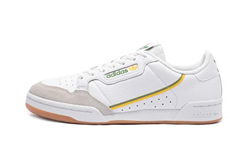 adidas Originals Continental 80, Footwear White-Footwear White-Crystal White, 6