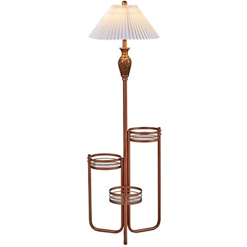 Lámpara de mesa de noche Lámpara de escritorio Combinación de estante y lámpara de pie LED: luz de pie for sala de estar moderna con estantes de exhibición Lámparas de lectura que cuidan la vista Lámp