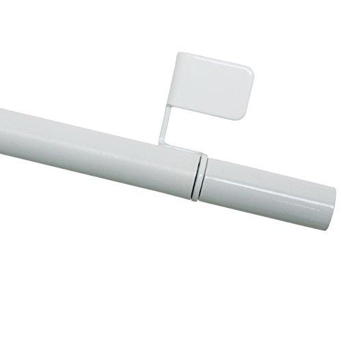 GARDINIA Klemmstange, Ausdrehbar, Montage ohne Schrauben und Bohren, Press&Go Filigrano Zylinder, Durchmesser 8/10 mm, Länge 50-80 cm, Metall, Weiß