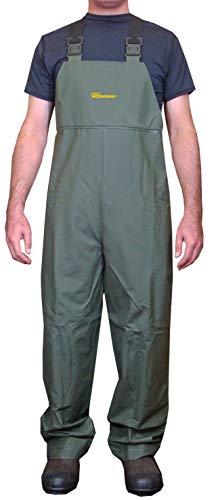 2610 シーマスター ビブパンツ 胸付きズボン カッパ ネオワークギア (ダークグリーン, L)