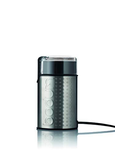 Bodum 11160-57EURO-4PL Bistro elektrische koffiemolen, 150 W, roestvrij staal, chroom mat