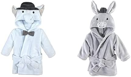 Hudson Baby Boy Plush Animal 2-Pack Elepha Bowtie Bathrobe OFFicial Industry No. 1 Face