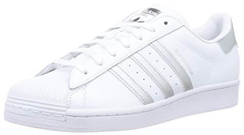 adidas Superstar, Scarpe da Ginnastica Uomo, Ftwr White/Silver Met./Ftwr White, 42 EU