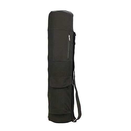 Bolsa para esterilla de yoga, de algodón de alto rendimiento, con cierre de cremallera, para cerrar, la esterilla de yoga con bolsillo interior y exterior con cremallera.
