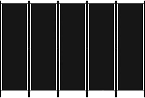 Loting Room Privacy Screen Room Separator 5 Sätze Raumabscheider Faltbar unabhängig Separator,Black