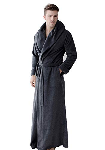 MAYIMY Camisón de gama alta para hombres y mujeres de otoño e invierno, además de pijamas de albornoz de hotel simple de moda larga, servicio a domicilio