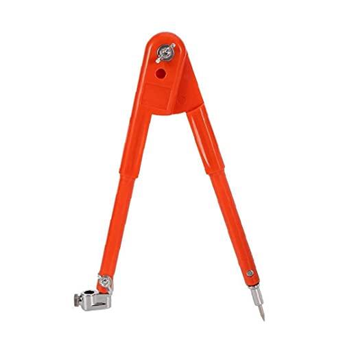 Runfon Tratamiento de la Madera Brújula Compás de Dibujo de Carpintero con el ala del lápiz del lápiz por la geometría de Dibujo de Redacción de Orange