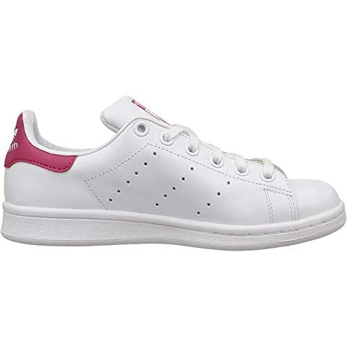 adidas Stan Smith J, Scarpe da Basket Unisex – Bambini, Bianco (Footwear White/footwear White/bold Pink), 38 2/3
