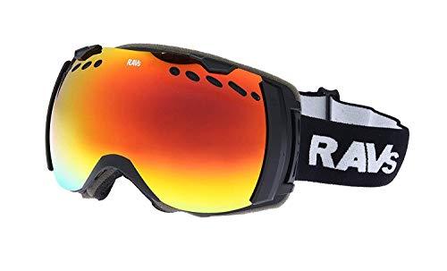Ravs Skibrille Schutzbrille Skiing Goggles Snowboardbrille sehr Großes Sichtfeld Antibeschlag