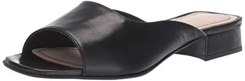 Kenneth Cole New York Emy Square Toe Sandal Heeled, Black, 8 M US