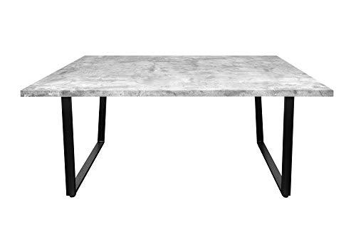 DuNord Design Esstisch grau 160 cm Beton Optik Metall Industrial
