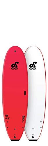 Ocean Storm Back to School Soft Top - Tabla de surf (16,6 cm), color rojo
