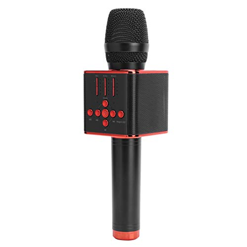 Micrófono inalámbrico de karaoke, micrófonos portátiles con Bluetooth de bobina móvil, altavoz...