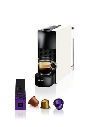 Krups Nespresso XN1101 Essenza Mini Kaffeekapselmaschine, 1260 Watt, weiß, 0,7 Liter