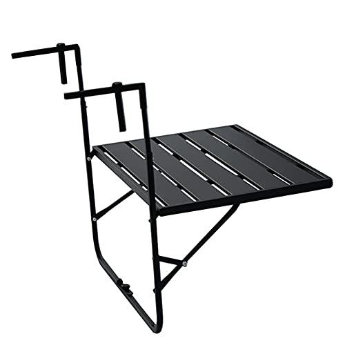 N / B Mesa de barandilla de balcón Ajustable, Mesa de Cubierta Fuerte, mesas de Bar de Colgantes al Aire Libre para Patio, jardín, balcón