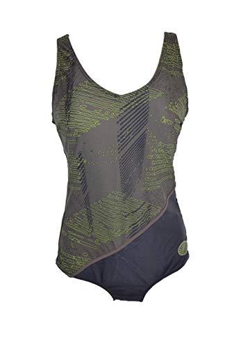Damen Badeanzug schwarz/Khaki/grün Gr. 38 42 44 46 48 50 52 NEU!!!(38,6/64472 BDJ)