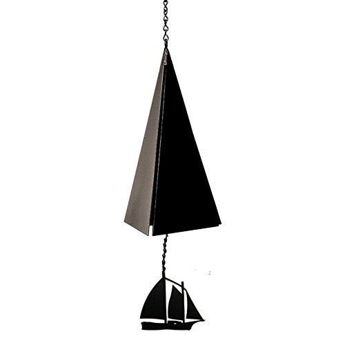 North Country Bell Camden Reach Bell - Campana de viento con bañador de viento (3 tonos), Negro