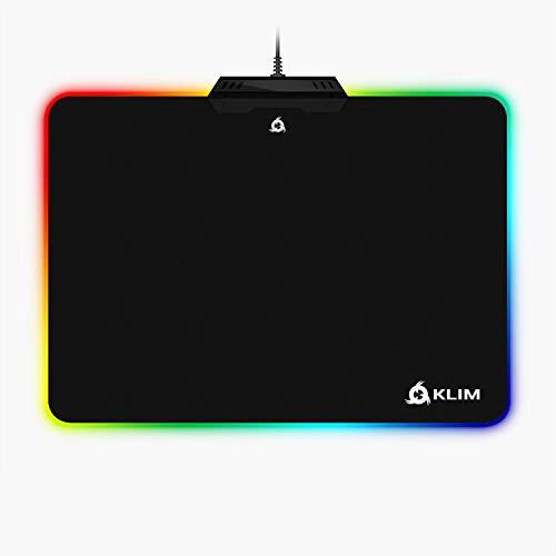 KLIM RGB Alfombrilla de Ratón Chroma – Material de Alta Precisión – Efectos de Luces - Múltiples Modos - Gaming - para Jugadores [ Nueva 2019 Versión ]