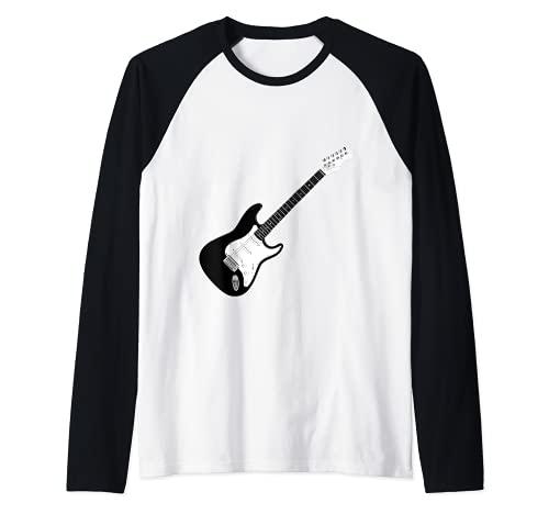 Guitarra Strat Player Hard Rock Heavy Metal Banda de música Camiseta Manga Raglan