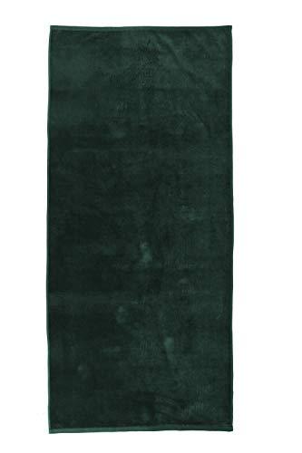 jilda-tex Uni-Strandtuch 100% Bio-Baumwolle 80x180 cm Badetuch Strandlaken Handtuch (Grün)