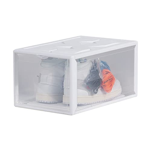 Toyvian Gabinetes de zapatos de plástico transparente fácil montaje zapatos contenedores cajas de almacenamiento zapatos cajas para tiendas en el hogar blanco